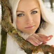 Beautiful blonde girl of about tree — Stock Photo