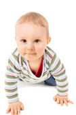 Baby crawling on the floor — Stock Photo