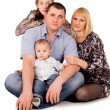 Beautiful big family posing — Stock Photo #25007661