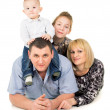 Happy big family posing — Stock Photo