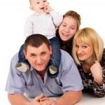 Joyful big family posing — Stock Photo