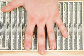 Money dollars and man's hand — Stock Photo