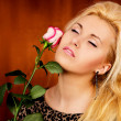 Stock Photo: Relaxation girl with rose