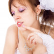 Beautiful bride to dream, to think — Stock Photo #28688949