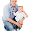 Happy father hugs little son — Stock Photo #28689139