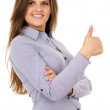 Business woman showing sign ok — Stock Photo #31397581
