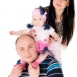 Happy father and mother with baby — Stock Photo