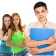 Students boy and girl — Stock Photo #31398021