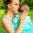 Stock Photo: Young mother with her daughter
