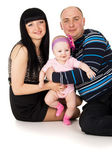 Young family with a child — Stock Photo