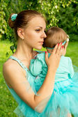 Young mother with her daughter — Stock Photo