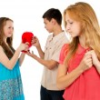 Stock Photo: Betrayal of guy to his girlfriend