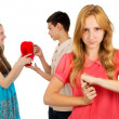 Girl is jealous girlfriend — Stock Photo