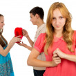 Stock Photo: Girl is angry with envy
