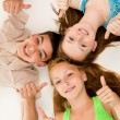 Stock Photo: Portrait of happy young people