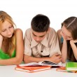 Teens prepare for exams — Stock Photo