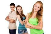 Future generation, young people isolated — Stock Photo