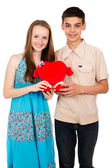 Happy loving young people — Stock Photo