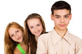 Portrait of beautiful young people — Stock Photo