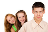 Portrait of young people — Stock Photo