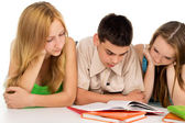 Young students reading books — Stock Photo