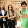 Teens Speak No Smoking — Stock Photo