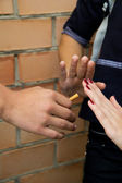 Close-up of stop cigarettes — Stock Photo