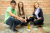 The composition of anti-smoking — Stock Photo
