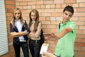 Young people against smoking — Stock Photo