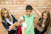 Young people are skeptical to cigarettes — Stockfoto