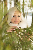Blonde girl of about tree — Stock Photo