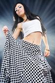 Beautiful girl dancing in Oriental style — Stock Photo