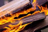 Pozadí, plamenů a protokolů — Stock fotografie
