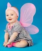Bambino in farfalle costume — Foto Stock