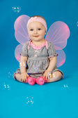 Baby in costume butterfly — Stock Photo