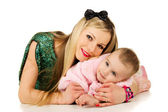 Beautiful mother with baby — Stock Photo