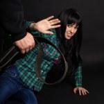 ������, ������: Beating women belt