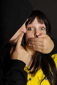 Offender says remain silent victim — Stock Photo