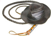 Hat and whip — Stock Photo