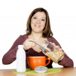 Girl breakfast — Stock Photo #21487835