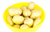Potatoes in box — Stock Photo