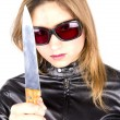 Killer girl - Stock Photo