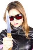 Killer girl — Stock Photo