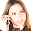 Stock Photo: Cellular girl