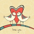 Royalty-Free Stock  : Card with birds in love