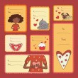 Royalty-Free Stock Vektorfiler: Gift tags with love