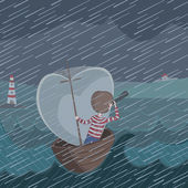 Illustration of storm — Stock Vector
