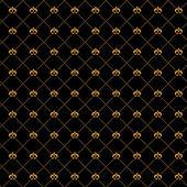 Golden damask seamless pattern — ストックベクタ