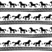 Seamless pattern with horses — Vector de stock