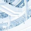Modern Shopping center Interior and escalator — Stock Photo #15067907
